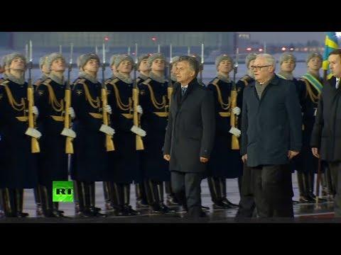 Mauricio Macri llega a Moscú en una visita oficial