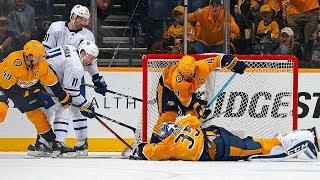 Pekka Rinne robs Tavares with incredible sprawling blocker save