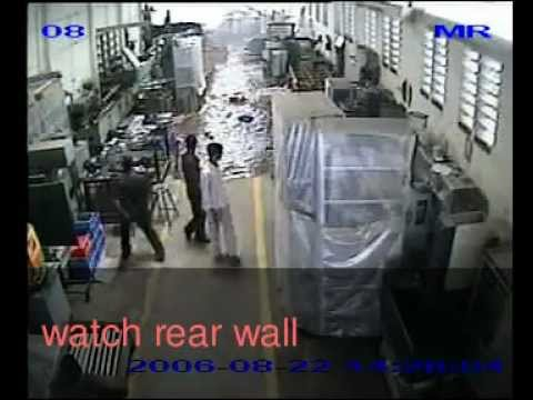 Factory accident caught on security camera