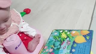 [육아vlog]생후5개월 아기 책읽어주기/ 사운드북/ …