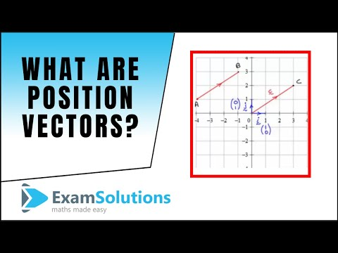 What are Position vectors?  (2D & 3D version) : ExamSolutions Maths Revision