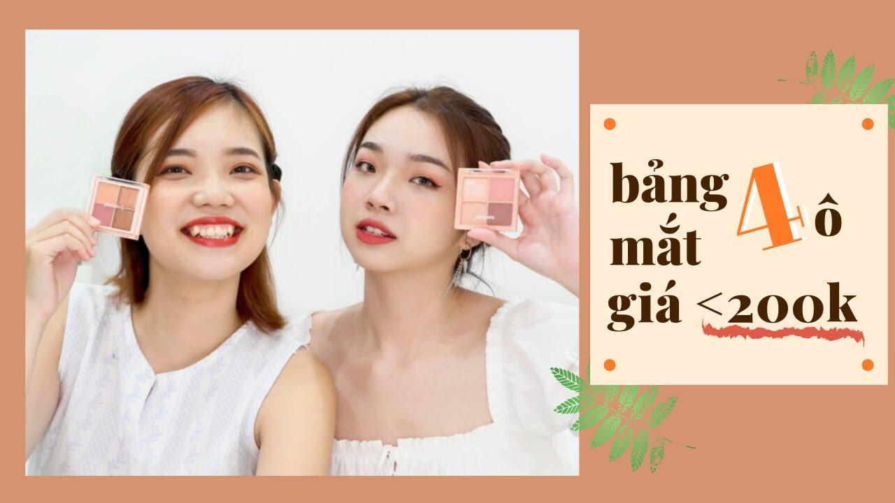 Review BẢNG MẮT 4 Ô HÀN QUỐC Tone Màu Cam Đào | Under 300k | Trang & Tiên