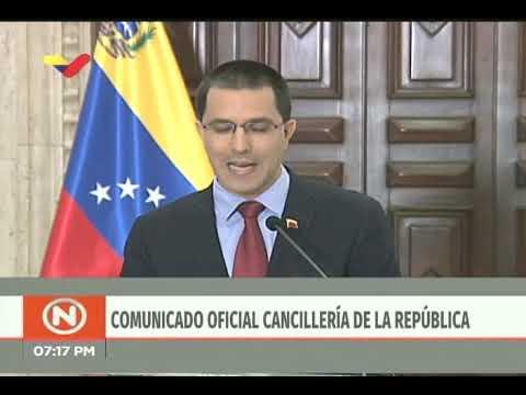 Canciller venezolano Jorge Arreaza ante posición del Grupo de Lima, 4 enero 2018