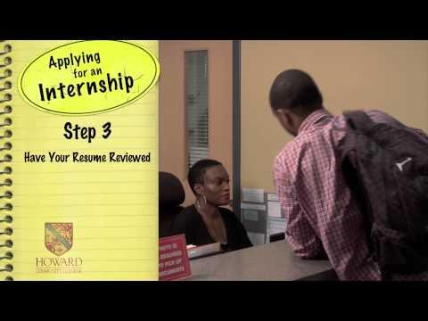 Applying for an Internship | Howard Community College (HCC)