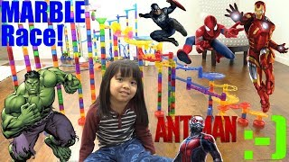 Marble Racing MARVEL SUPER HEROES! Iron Man, Spider-man, The HULK, Ant-man, Thor and More! Race #67