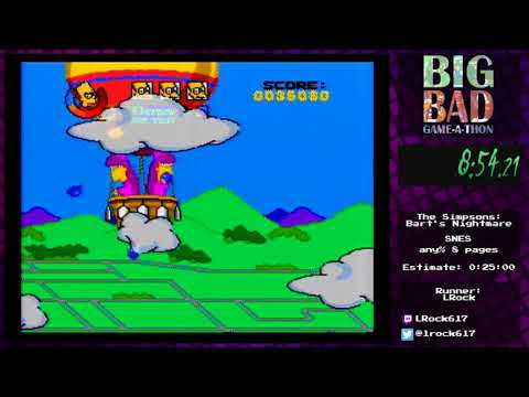 Big Bad Game-a-thon 2017 - The Simpsons: Bart's Nightmare by LRock
