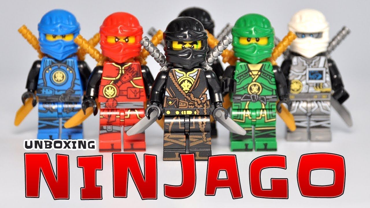 Lego Ninjago Fake Minifigures Jay Kai Zane Lloyd Cole Lego