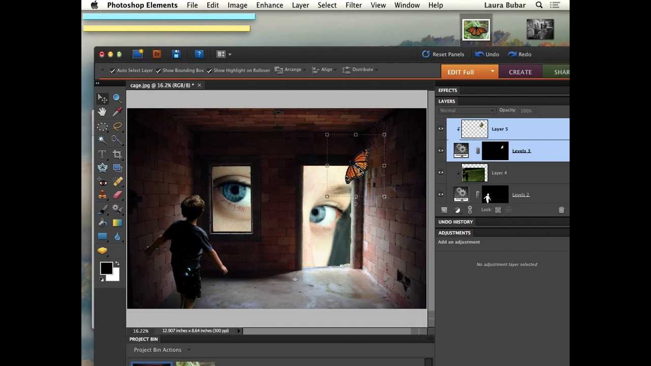 how to add a dropshadow on photoshop elements 12