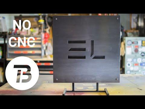 DIY Steel Logo Sign Backlit with LEDs