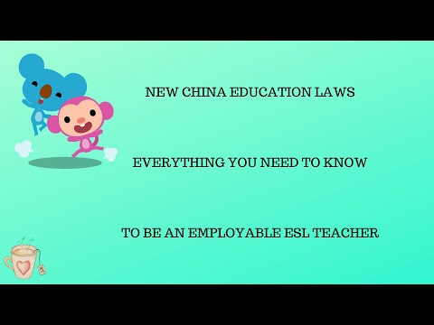 Teach English Online To Chinese Students: NEW ESL REQUIREMENTS