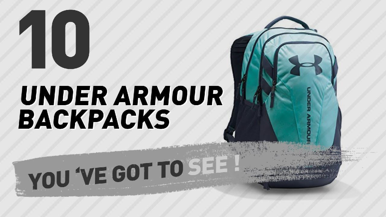 4e82238e2fe Top Backpacks By Under Armour // New & Popular 2017 - YouTube