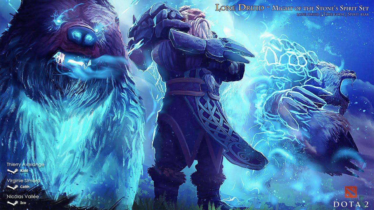 might of the stone spirit dota 2 lone druid set youtube