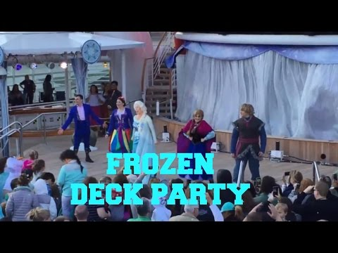 Disney Wonder Alaska Cruise 2016 | FROZEN DECK PARTY | FREEZING THE NIGHT AWAY WITH ANNA & ELSA