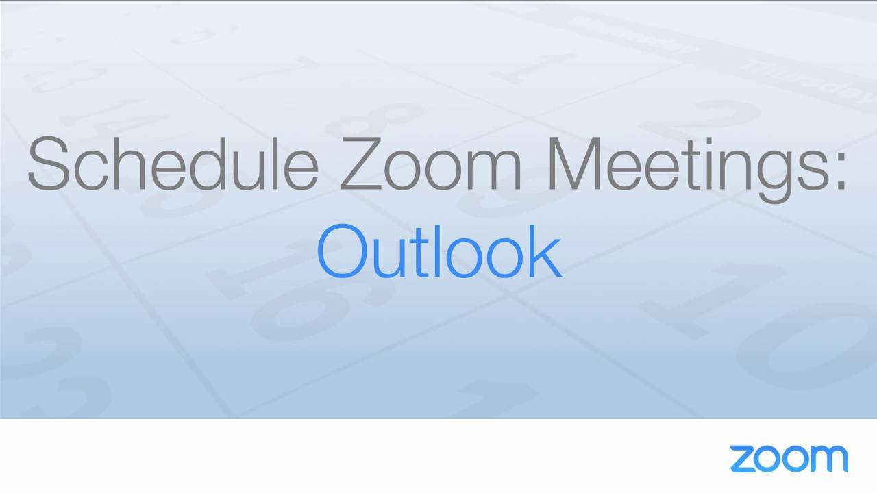 Microsoft Outlook Plugin (Desktop) – Zoom Help Center