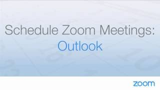 Schedule Zoom Meetings With Outlook