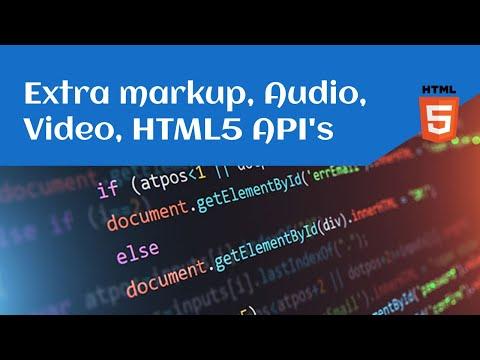 Sesioni 3 - HTML5 (Forms, Extra Markup, Audio, Video, HTML5 API's)