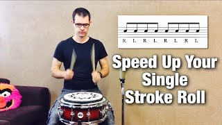 How To Speed Up Your Single Stroke Roll | Drum Lesson By Dex Star