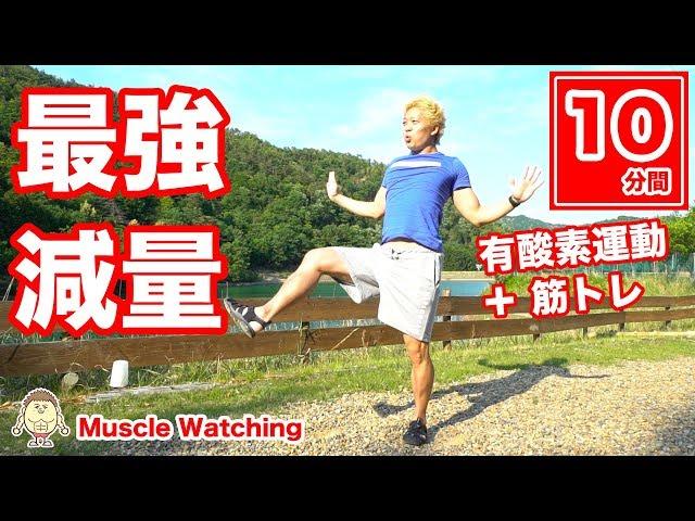 【10分】有酸素運動+筋トレ!スクワットとパンチの最強減量エクササイズ! | Muscle Watching