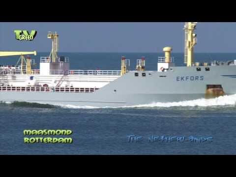 Maasgeul Rotterdam: Oil tanker Baltic Commander meets Ekfors