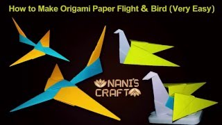 How to Make Origami Paper Flight & Swan (Very Easy) naniscraft