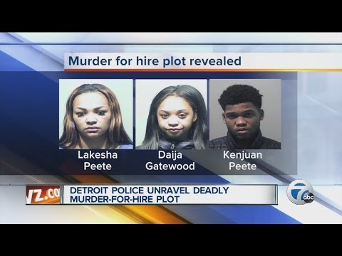 Detroit police unravel deadly murder-for-hire plot