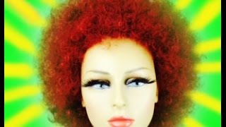 HOW I WASH A SYNTHETIC  CURLY WIG - TUTORIAL - CHEAP AND FAST WAY
