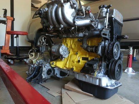 1994 7AFE 4AFE Toyota Corolla yellow Engine rebuild 2016