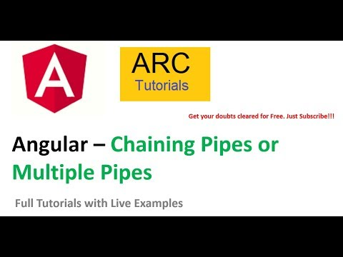 Angular Pipes | Chaining Pipes or Multiple Pipes | Angular 8 Tutorials thumbnail