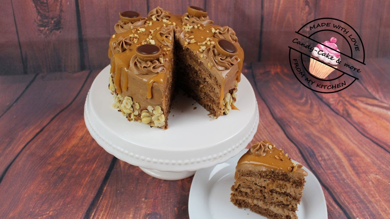 Toffee Nuss Torte I Toffifee Torte I Cake Youtube