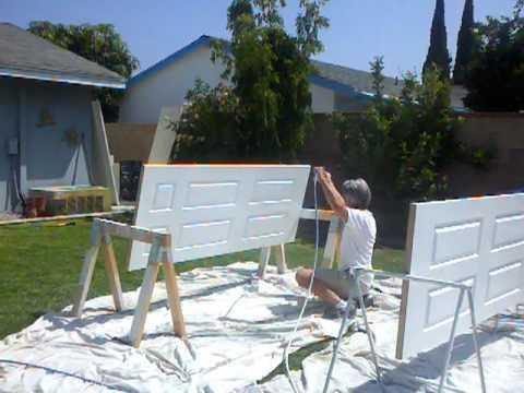 Spray painting doors & Spray painting doors - YouTube
