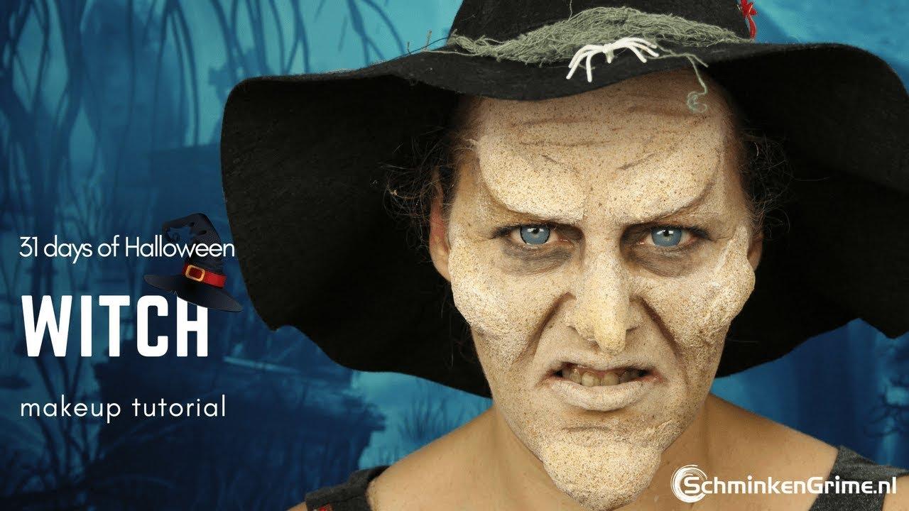 Witch Makeup Tutorial | FX Makeup | 31 days of Halloween - YouTube