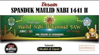 Desain Spanduk Banner Maulid Nabi Muhammad Saw 2019 Di Coreldraw