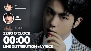 BTS - 00:00 (Zero O'Clock) Line Distribution + Color Coded Lyrics