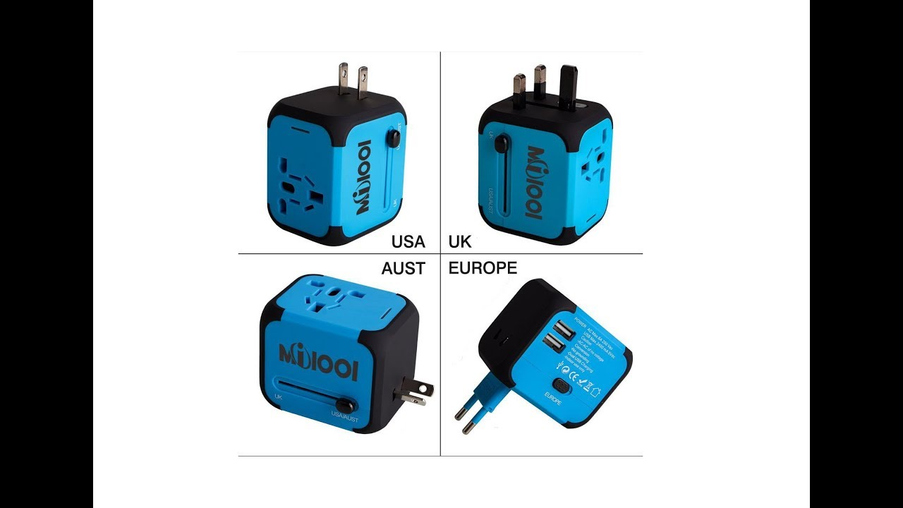 Milool Universal World Travel Adapter With 2 4a Dual Usb Ports For Australian 3 Pin Socketoutlet Construction Uk Us Au Unboxing