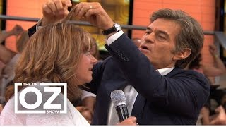 Dr. Oz Demonstrates How to Find Out How Healthy Your Hair Is
