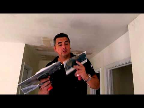 "How to skim coat ceilings in ""1 HOUR"""