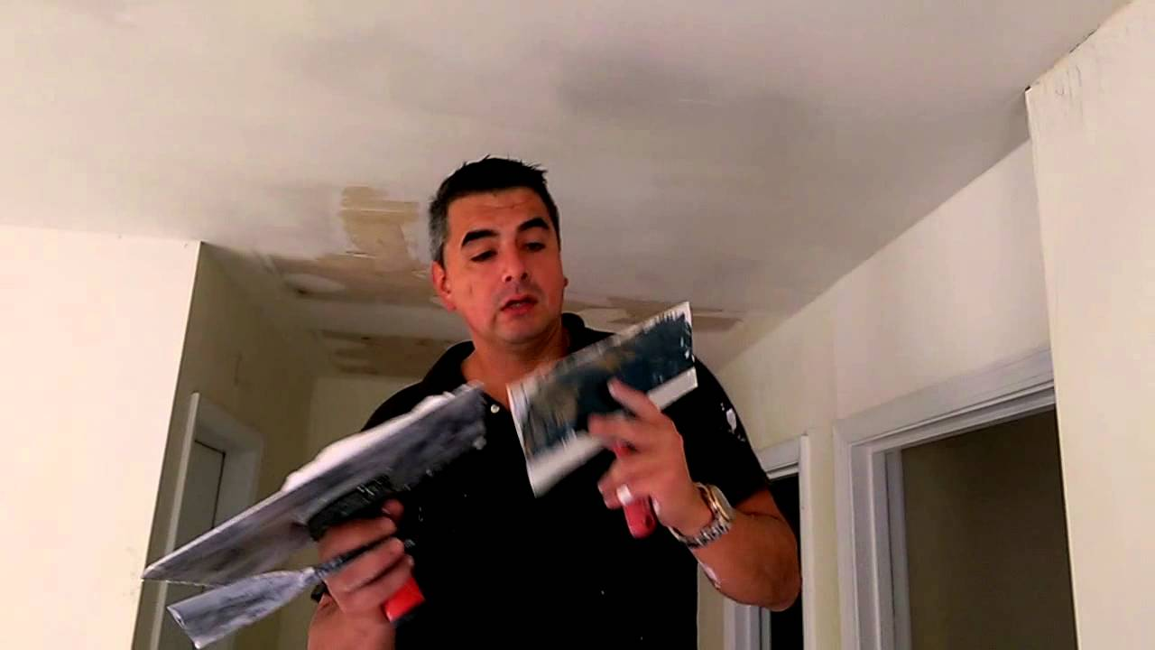 How To Skim Coat Ceilings In 1 Hour Youtube If You39re Not Sure Patch Drywall There39s Plenty Of Videos On