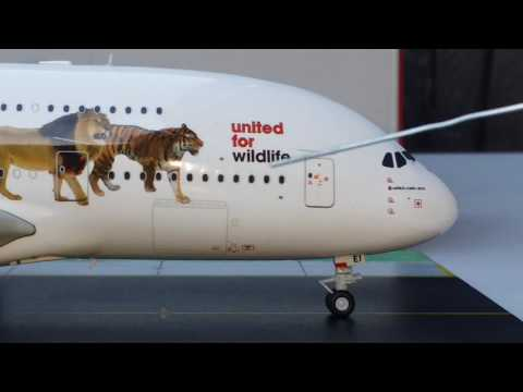 Gemini 200 Emirates Airbus A380-800(Wildlife #1 Livery)Review