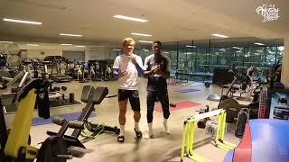 Griezmann y Dembelé bailando Bella Vídeo de Instagram