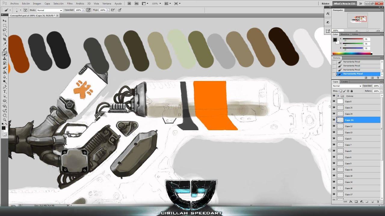 Speedart - ConceptArt | District 9 weapon - YouTube