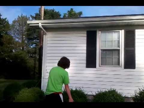 How To Get A Frisbee Off The Roof Youtube