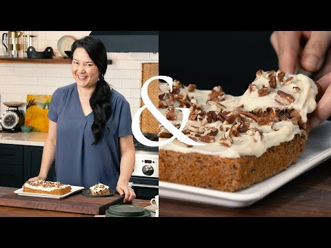 Carrot Almond Snack Cake with Cream Cheese Frosting | F&W Cooks | Food & Wine