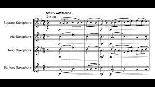 Thomas Crawley - Largo for saxophone quartet (audio + sheet music)