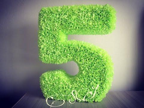 Как сделать 3D объемную цифру пять на день рождения. Часть 1.