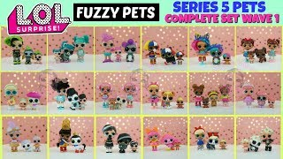 LOL Surprise Fuzzy Pets Complete Set With Weight Hacks All Golds Found Makeover Series 5 Pets