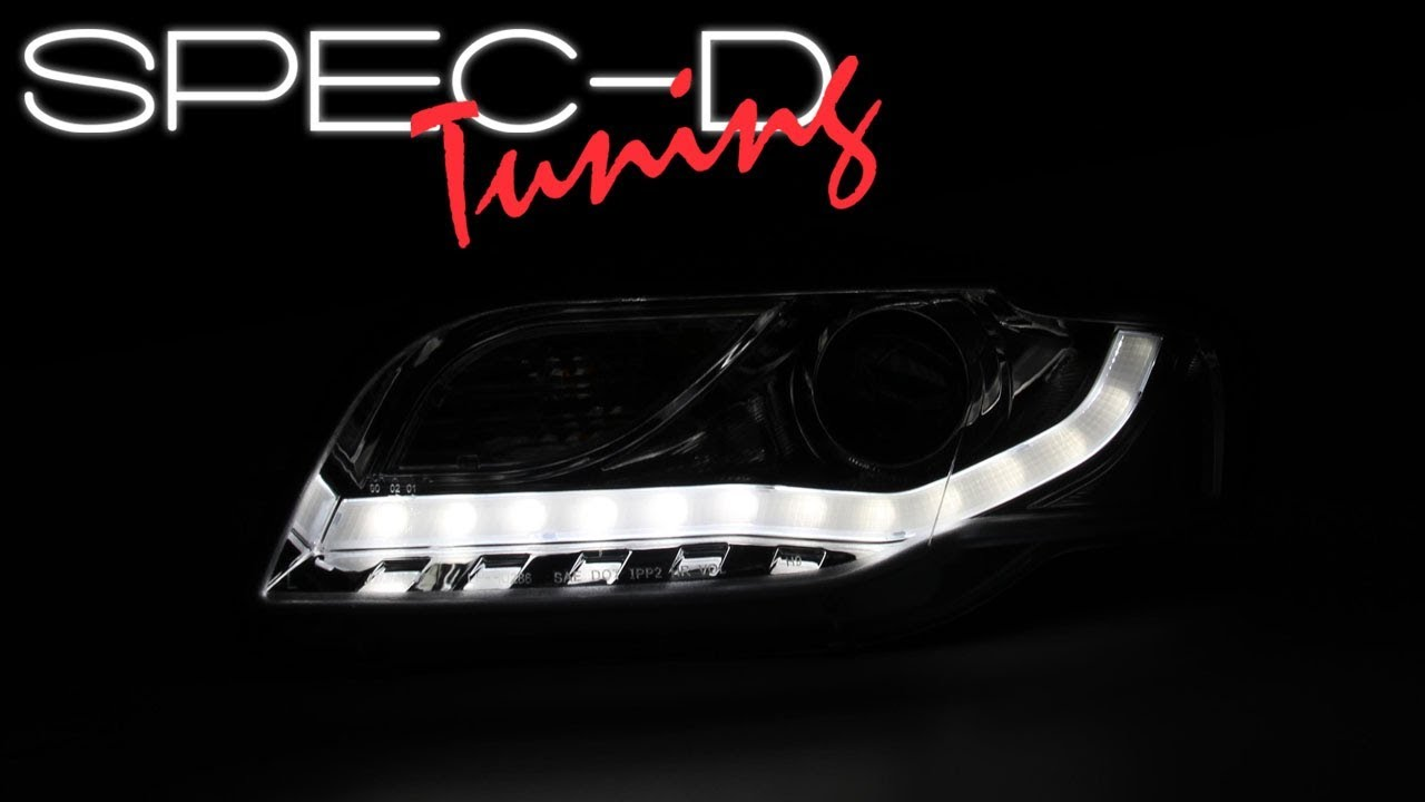 SPECDTUNING DEMO VIDEO AUDI A S B PROJECTOR HEADLIGHTS - 2006 audi a4 headlights
