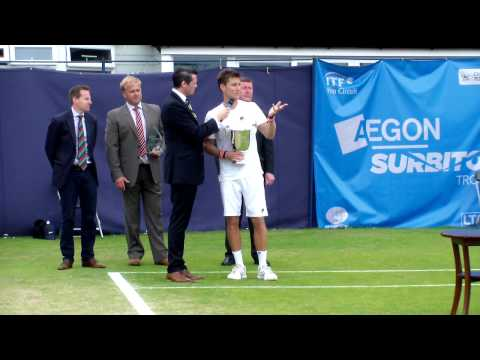 The Men's Trophy Winners Presentation and Post Match Interview