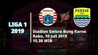 Jadwal Pertandingan dan Siaran Langsung Liga 1 2019 Persija Jakarta Vs Persib Bandung Rabu (10/7)