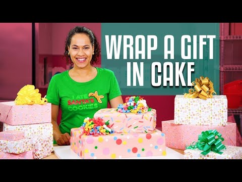How To Make A SURPRISE INSIDE GIFT BOX Cake   With REAL GIFT INSIDE!  Yolanda Gampp   How To Cake It
