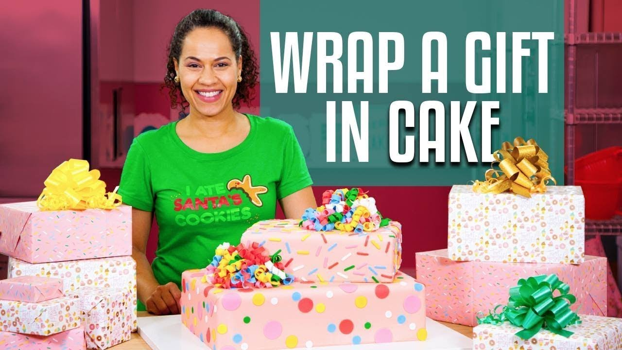 How To Make A SURPRISE INSIDE GIFT BOX Cake